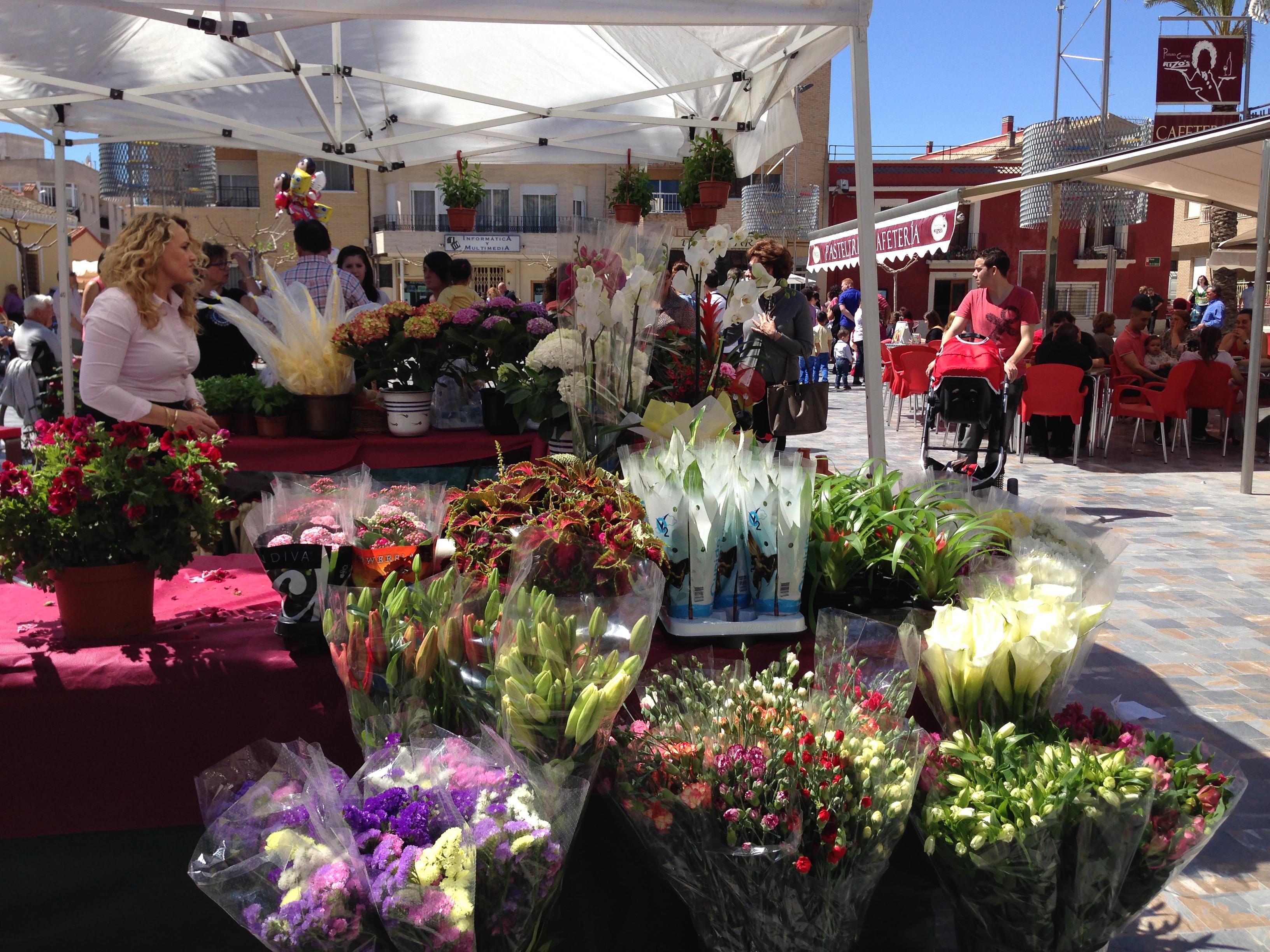Blom och plantmarknad